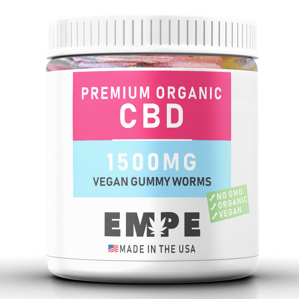 cbd vegan gummy worms - premium hemp products