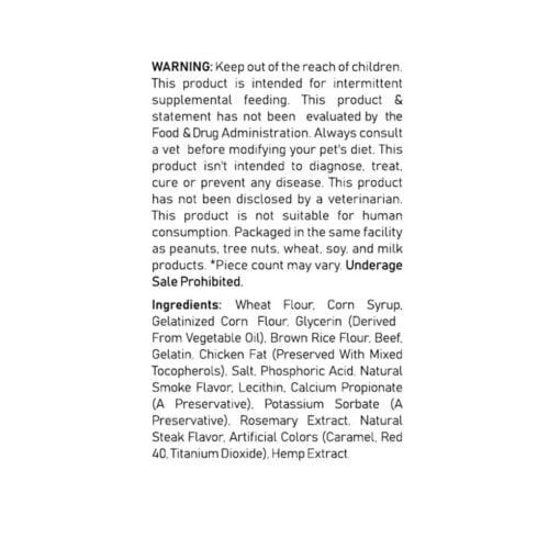 CBD for Pets - Steak 100mg warning