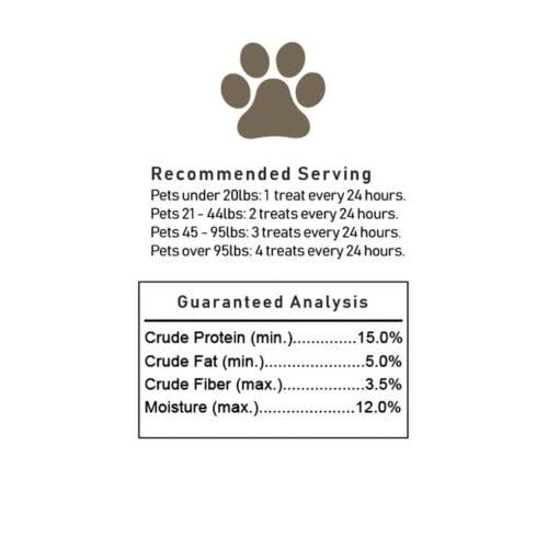 CBD Pet Bone Treat 100mg with bones