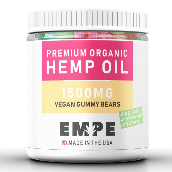VEGAN GUMMY BEARS 1500MG - PREMIUM ORGANIC HEMP CBD
