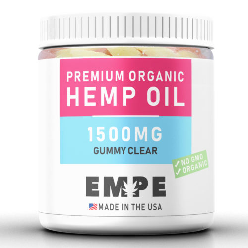 GUMMY CLEAR 1500MG - PREMIUM ORGANIC HEMP OIL GUMMIES