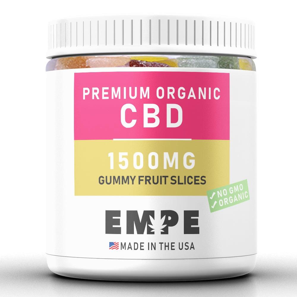 Bonbons au CBD Fruit Slices 1500MG - PREMIUM ORGANIC HEMP CBD