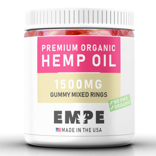 GUMMY MIXED RINGS 1500MG - PREMIUM ORGANIC HEMP OIL GUMMIES