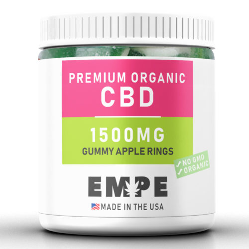 GUMMY APPLE RINGS 1500MG - PREMIUM ORGANIC HEMP CBD