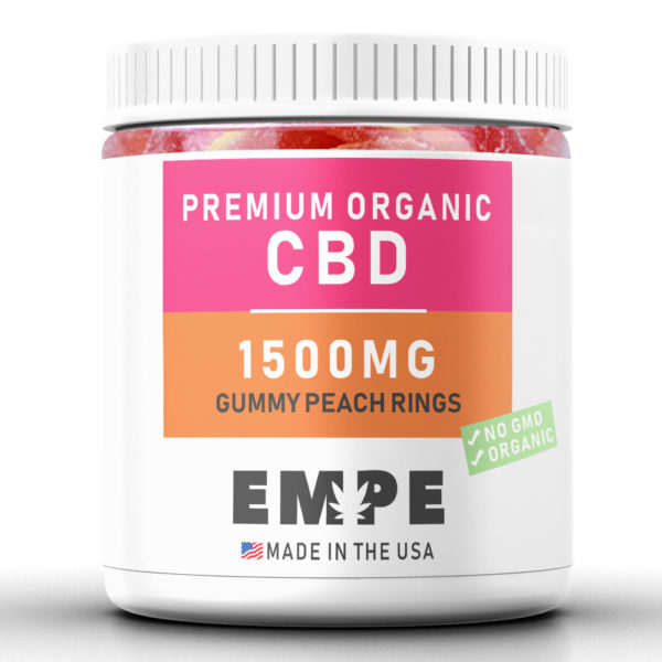 GUMMY PEACH RINGS 1500MG - PREMIUM ORGANIC HEMP CBD