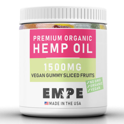 VEGAN GUMMY SLICED FRUITS 1500MG - PREMIUM ORGANIC HEMP OIL GUMMIES