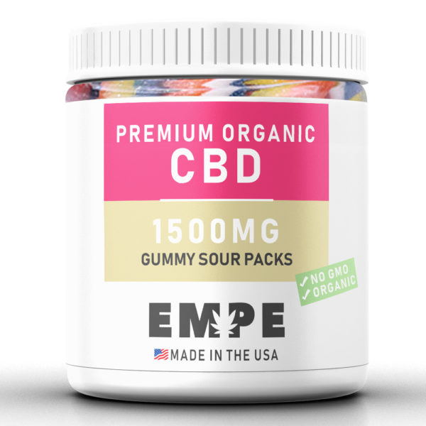 GUMMY SOUR PACKS 1500MG - PREMIUM ORGANIC HEMP CBD