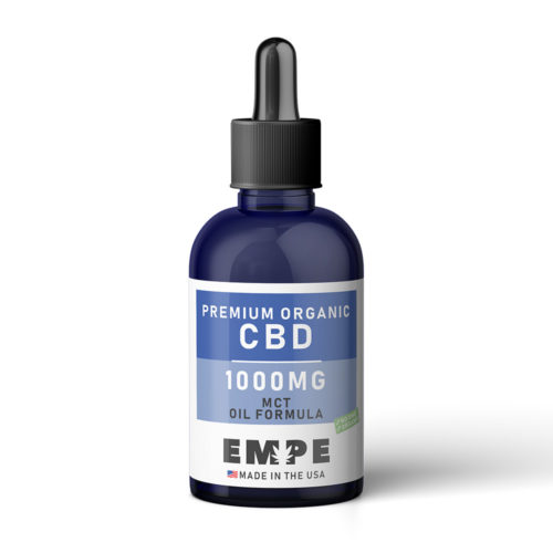 TINCTURE MCT OIL 1000MG - PREMIUM ORGANIC HEMP CBD