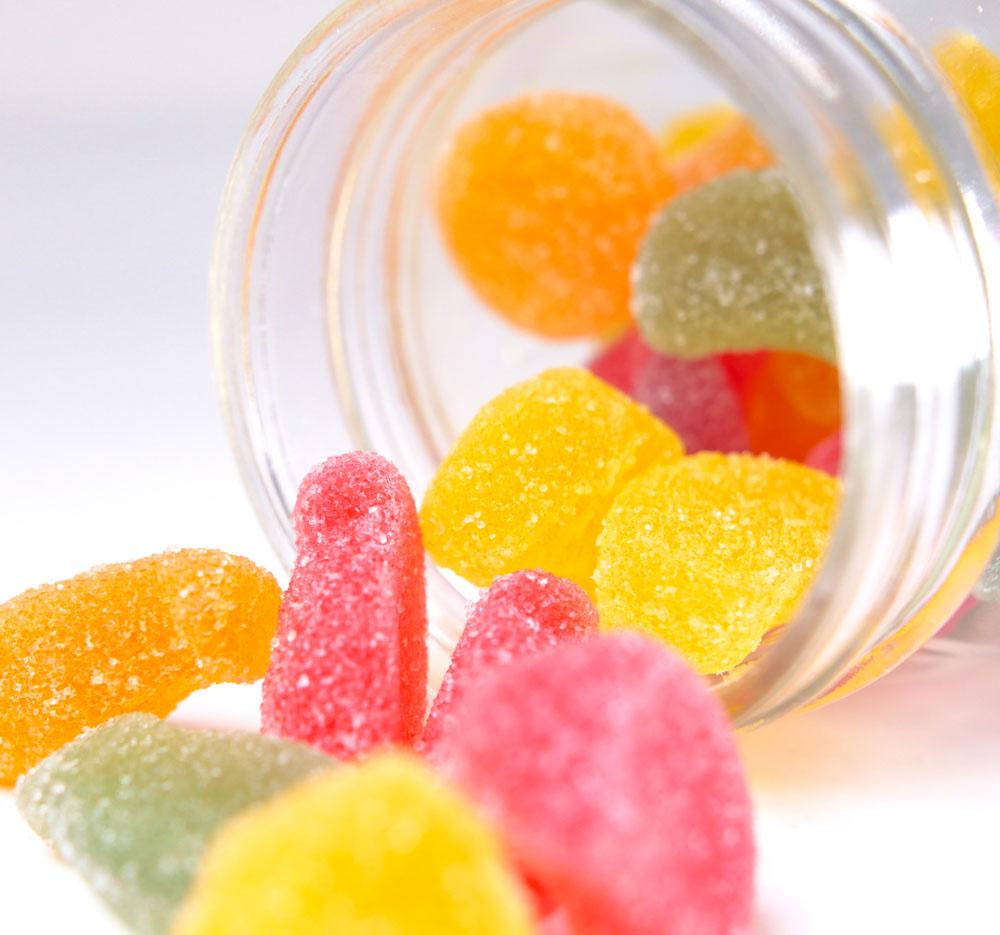 Bonbons Vegans au CBD  Fruit Slices