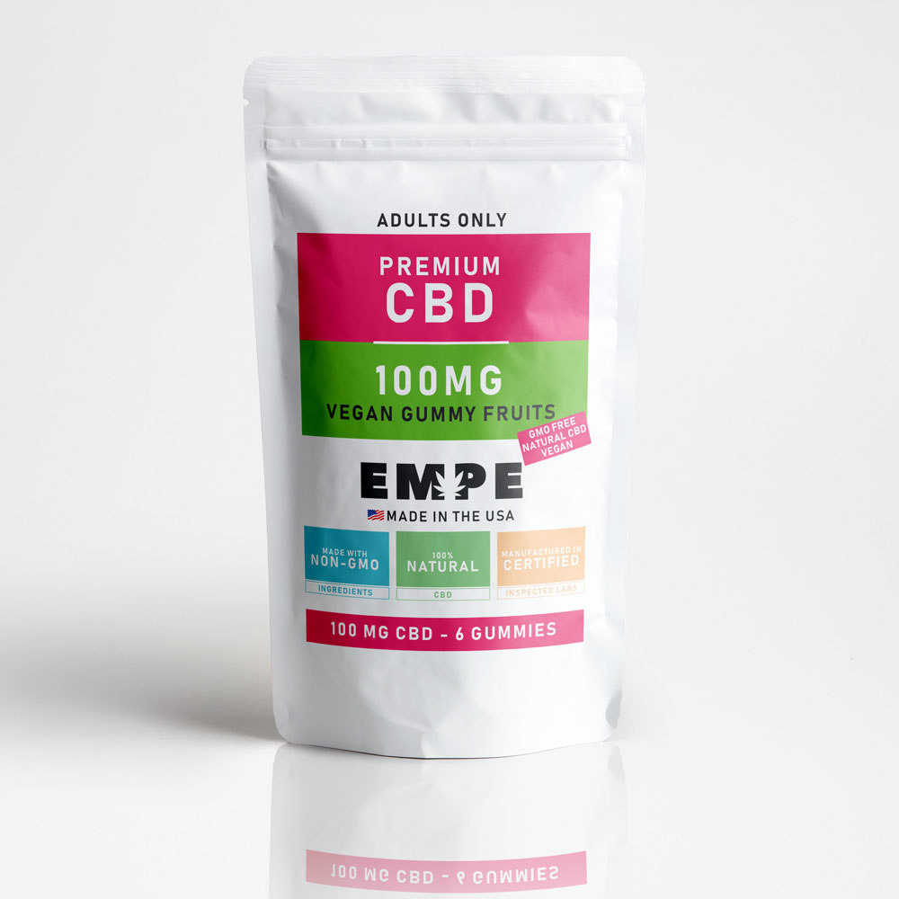 Cbd Vegan Gummy Fruits - 6 Gummies