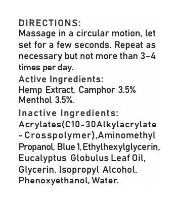 CBD Roll-on Ingredients