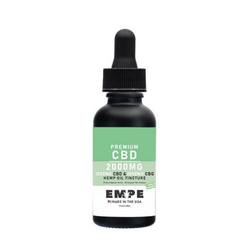 Full spectrum CBG CBD MCT oil tincture 2000mg 30ml