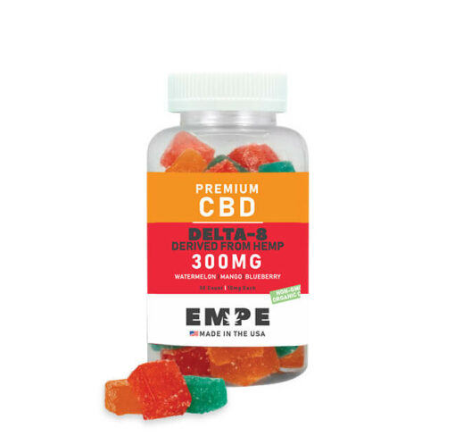 Delta 8 Sour Gummies 300mg with products