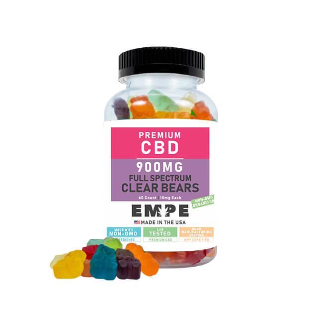 Full Spectrum CBD Clear Gummy Bears 900mg